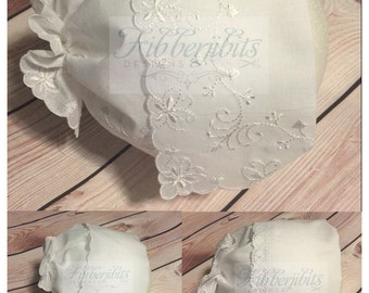 Baby Bonnet Wedding Hanky Personalized