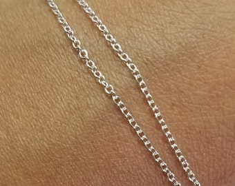 "Sterling Silver 1.3mm Cable Chain, ""Heavy,"" 1, 10, or 50 Feet"