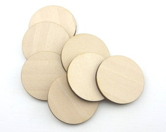 Crafting Supplies - 100 Laser cut wood circles - Made to order