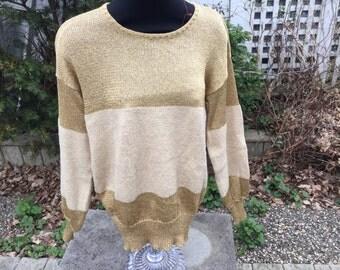 Henry Grethel Rare Medium 1980s Light Sweater
