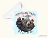 Bear birthday greetings card