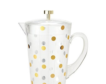 Monogrammed Kate Spade Water Pitcher