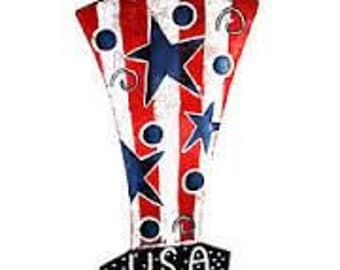 Personalized USA Top Hat Fourth of July Door Hanger