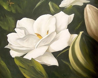 Gardenia - Counted cross stitch pattern in PDF format