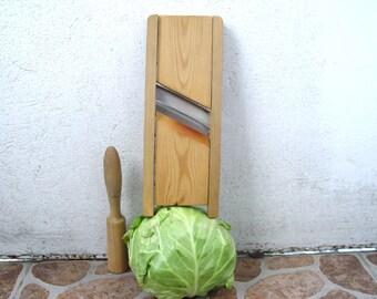 Antique Wooden Mandoline Slicer, Cabbage Slicer