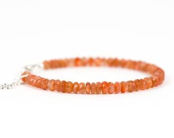 Sunstone Bracelet, Delicate Gemstone Bracelet, Gemstone Bracelet, Handmade Jewelry, Gemstone Jewelry
