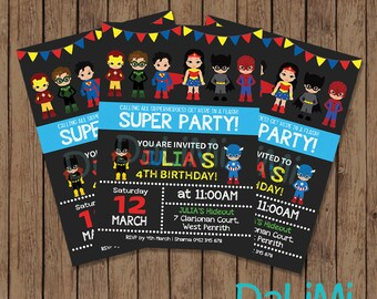 Superhero Invitation - Superhero Birthday Invitation - Unisex Invitation - Marvel Hero - Avenger Printable Invitation!
