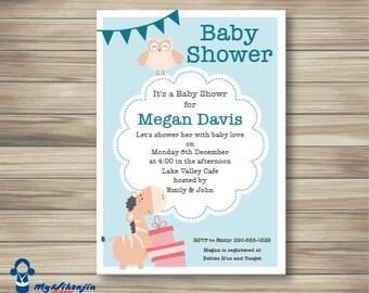 Baby Shower invitation, Printable baby shower invite, Baby boy or girl invites, Baby Shower Digital File, Custom Baby invite, DIY printable