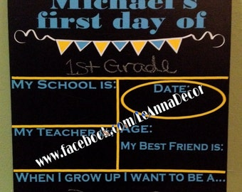 Chalk Board School Sign