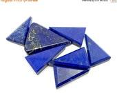 10% Xmas in July Lapis Lazuli Triangle Cabochon - Beautiful Wonder of Nature - (RK22B14-04)
