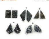 10% off Xmas in July Druzy Cabochon Pairs  - YOu ChOOsE - Perfect for Jewelry Making (RK28B11-14)