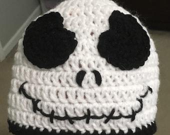 Crochet Jack Skellington Beanie