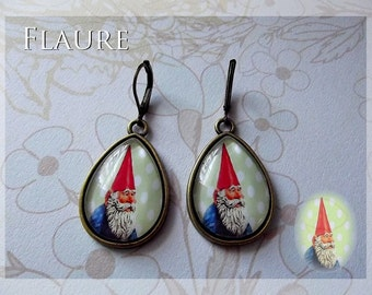 earrings ''garden gnome''