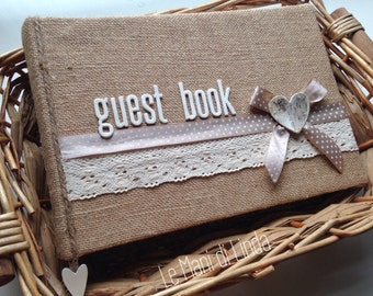 Guest book shabby country chic