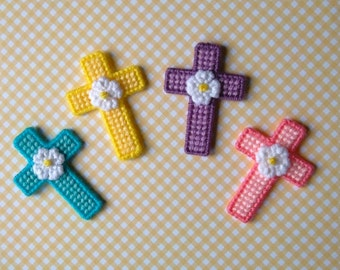Plastic Canvas: Easter Crosses Magnets (set of 4)