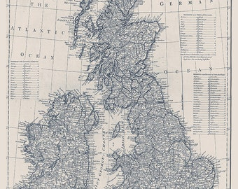 Custom tan map of the British Isles