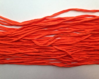 T-shirt Yarn, Bright Orange from Upcycled cotton T-shirt