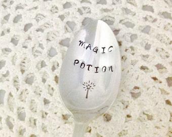 Magic Potion Hand Stamped Vintage Silverware Spoon