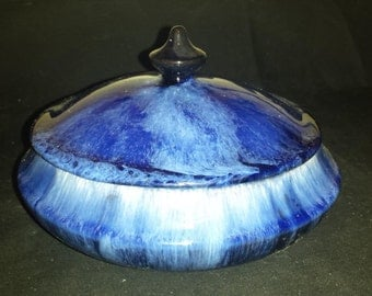 Rare Vintage Cobalt BMP Lidded/Covered Dish. Blue Mountain Pottery.