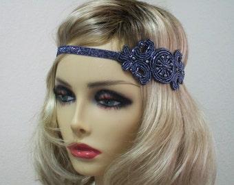 Silver flapper headband, 1920s headpiece, Hollywood Star, Gatsby headpiece, Gatsby prom, 1920s costume, roaring 20s,