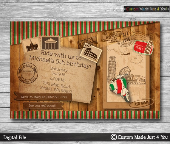 einladung geburtstag reise-einladung postkarte einladung boy, Einladung