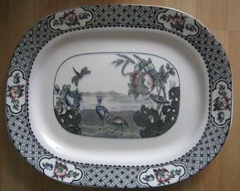 W.R. Midwinter Burslem England Moyen transferware Platter