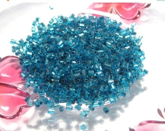 50% OFF Clearance Sale 20 Grams Silverlined Blue Bugle Beads 2mm