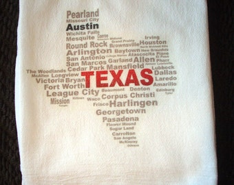 Flour Sack Kitchen Towel Texas
