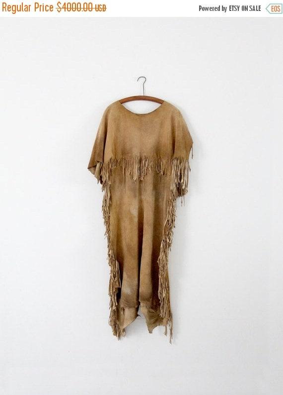 sale vintage native american dress buckskin dress by ironcharlie. Black Bedroom Furniture Sets. Home Design Ideas