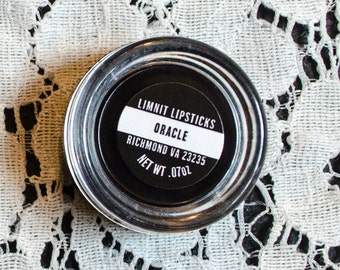 Oracle Mini Jar : Black Semi Matte Opaque Vegan Lipstick