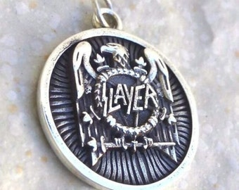 SLAYER Eagle Heavy 3D Pendant Solid Sterling Silver 925