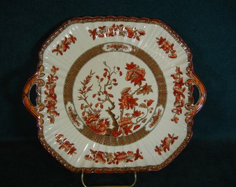 Spode 'Indian Tree' Handled Cake Plate