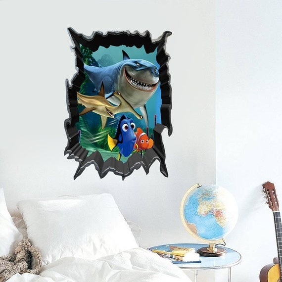 new 3d finding nemo wall decall bedroom stickers decorations
