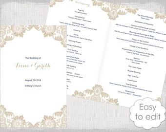 Catholic Wedding program template Wisteria / lavender