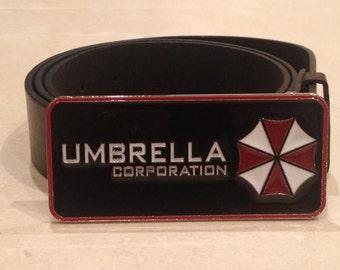UMBRELLA CORPORATION logo metal BUCKLE + Free Belt resident evil Cosplay capcom