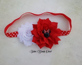 Minnie mouse headband. Minnie mouse Birthday. Minnie headband. Red headband. Girls headband. Kids headbands. Baby headband. Minnie mouse