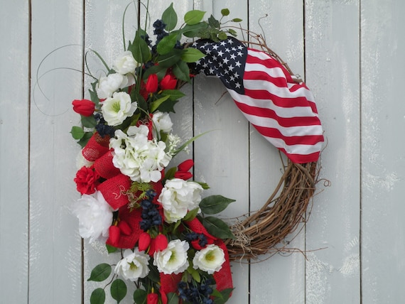 patriotic wreaths for front doorFourth of July Floral Wreaths Page Two  Fourth Of July Wikii