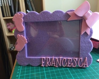 Photo frame for gifts or christening favor