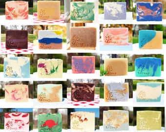 Farmfresh Goat Milk Soap, Five Bars- Your Choice of Scents