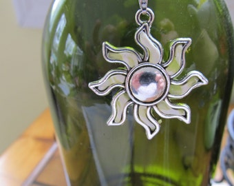 Handmade Clay and sterling Sun