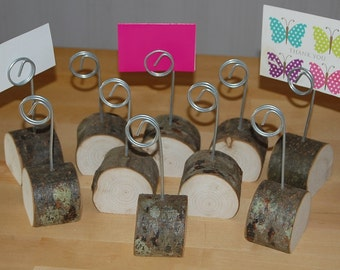 Wooden Holders,Wedding Table Place Number/Menu/Photo/Shops/Wire & Hardwood X 10