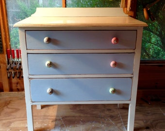Vintage upcycled dresser with drawers