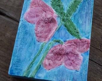 Handpainted Lenten Rose Tile