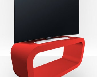 Red Matt TV Stand - Hooptangle