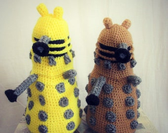 "Exterminate! - Handmade Dr Who Inspired Dalek 13"" Plushie"