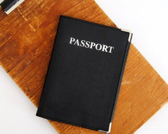 Travel Passport Cover in White & Black - Great Gift Idea