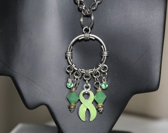 Lime Green Circular Necklace