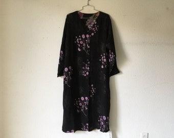 FREE SHIPPING - Vintage Long Duster  Blouse Dress