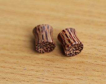 "0g Plugs, Coconut Plugs, Organic 8mm Saddle Plugs, 1/3"" Wood Plugs Wood Gauges OPW0108"