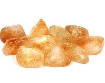 Citrine Stone, Rocks and Minerals, Citrine Crystal, Citrine Tumbled Stone, Citrine Polished Stone, Meditation Stones, Citrine Chakra Stone